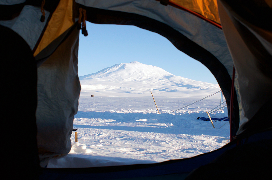 View from my front door - Ice Camping Training