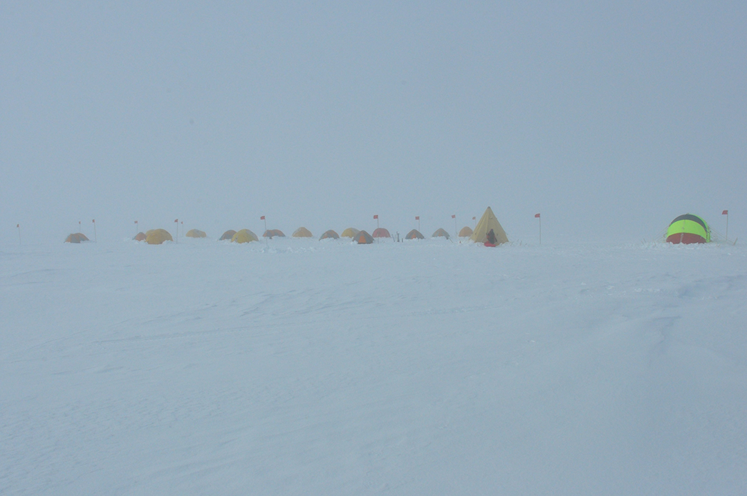 Blowing Snow and Fog at Yesterday Camp